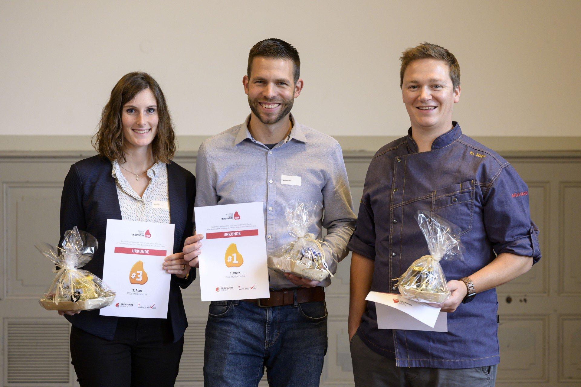 Finalisten des Savoir-Faire Innovationswettbewerbs 2019 von Schweizer Fleisch